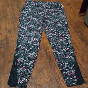 Maurice's size m floral leggings